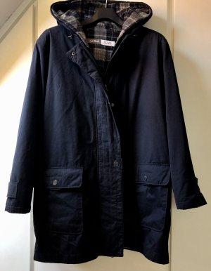 Gemütlicher Gil Bret Sport Concept Mantel dunkelblau warm gefüttert Karo Basic