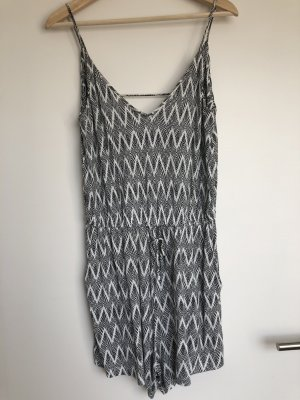 H&M Basic Kombinezon biały-czarny
