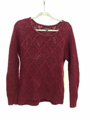 American Eagle Outfitters Pull tricoté bordeau