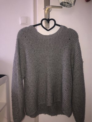 New Look Crochet Sweater grey