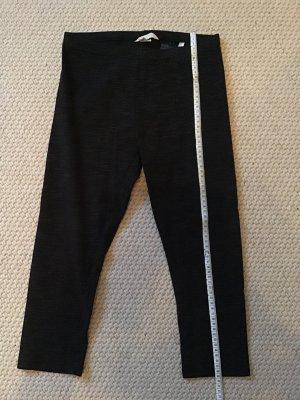 H&M Basic Pantalón pirata negro-gris claro