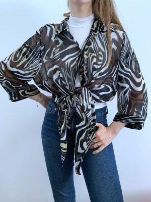 Gemusterte Bluse leicht transparent / vintage