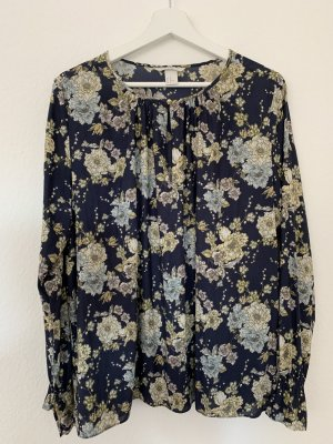 Gemusterte Bluse mit Blumenmuster/Glockenärmel