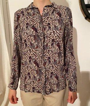 gemusterte bunte Bluse