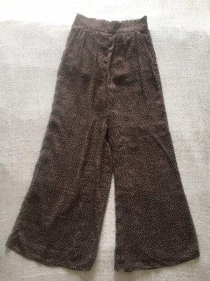 H&M Pantalon Marlene brun noir-crème