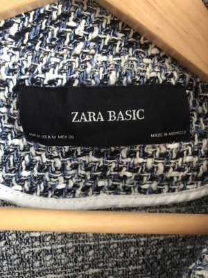 Zara Basic Kurtka przejściowa niebieski-biały