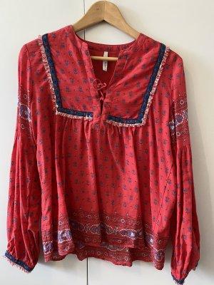 Gemusterte Hippie-Bluse