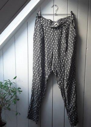 H&M Pantalón estilo Harem blanco-negro
