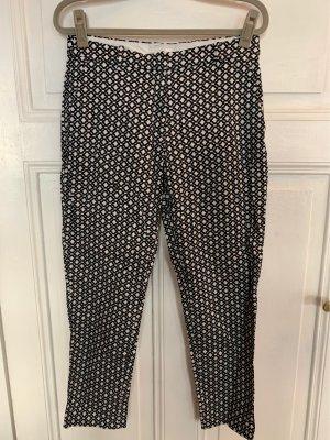 H&M Spodnie garniturowe biały-czarny