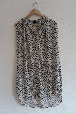 gemusterte lange Schlupfbluse / leichtes Kleid
