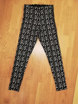 H&M Legging noir-blanc