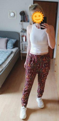 Zara Lage taille broek veelkleurig