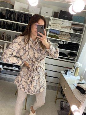 Gemusterte Long-Bluse H&M mit Bindedetail vorne