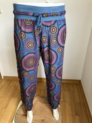 Pantalon large multicolore coton