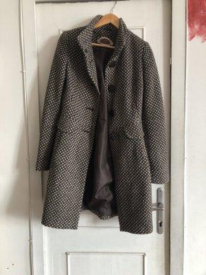 C&A Clockhouse Manteau mi-saison brun foncé-blanc cassé