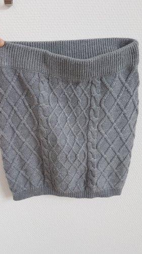 FB Sister Knitted Skirt light grey-grey