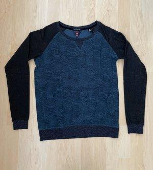 Maison Scotch Długi sweter petrol-czarny
