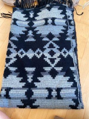 Pieces Woolen Scarf black-grey