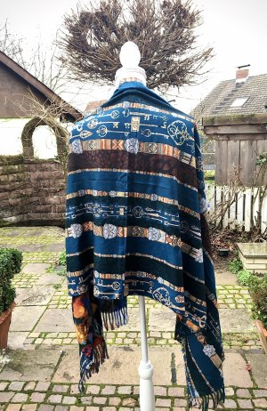 True Vintage Sciarpa in cashmere multicolore