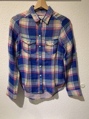 Abercrombie & Fitch Shirt Blouse blue-pink cotton