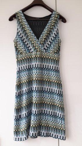 Comma Midi Dress multicolored cotton