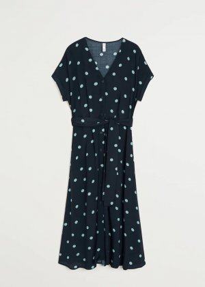 Gemustertes Kleid mit Dots von Mango Gr. XS