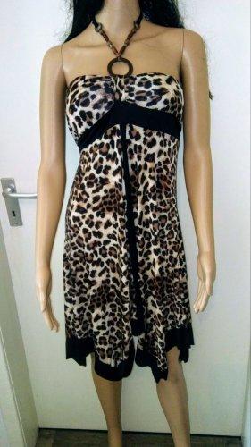 Sukienka z dekoltem typu halter Wielokolorowy Tkanina z mieszanych włókien