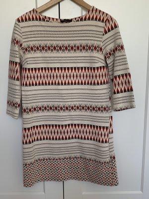 Gemustertes Sommerkleid rot/schwarz/beige