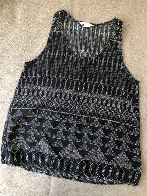 H&M Tanktop zwart-wit