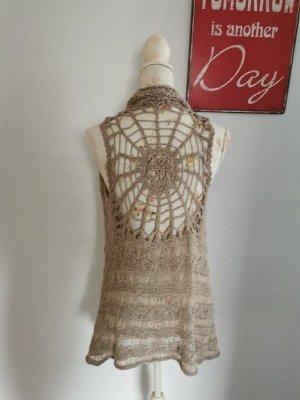 GeNeSY Cardigan en crochet multicolore nylon