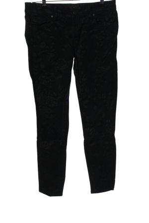 Genetic denim High Waist Trousers black allover print casual look