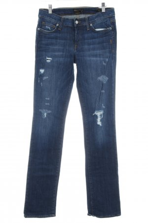 Genetic denim Straight Leg Jeans dark blue casual look