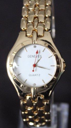 GENEVES Reloj con pulsera metálica color oro