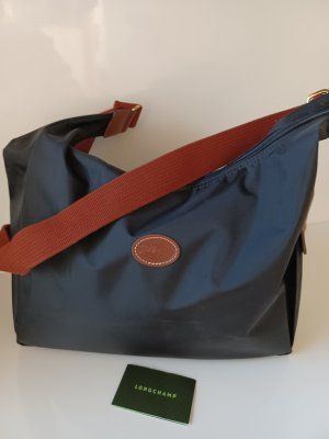 Genialer Longchamp Le Pliage Shopper, Crossbody schwarz