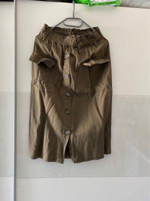 C&A Yessica Midi Skirt green grey-khaki