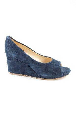 Gennia Peep Toe Pumps blauw zakelijke stijl