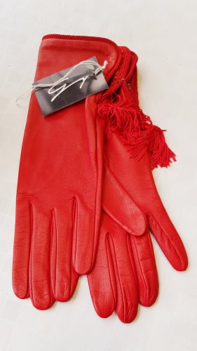 GENNY Leather Gloves brick red
