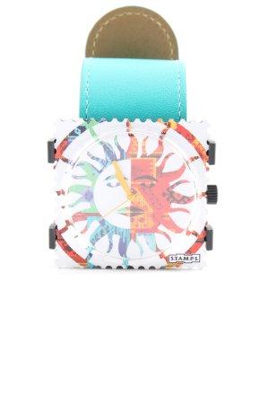 Genuine Leather Analoog horloge prints met een thema casual uitstraling