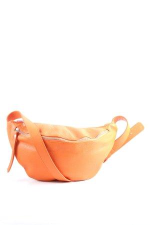 Genuine Leather Riñonera naranja claro look casual