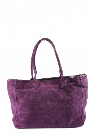Genuine Leather Beuteltasche lila Casual-Look