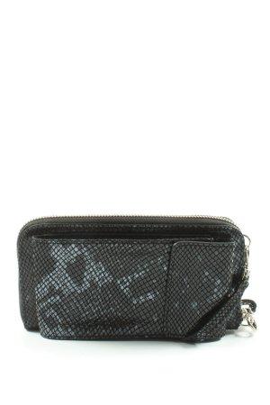 Genuine Leather Torebka portmonetka czarny-jasnoszary Na całej powierzchni