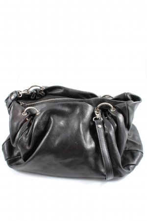Genuine Leather Handtasche schwarz Casual-Look