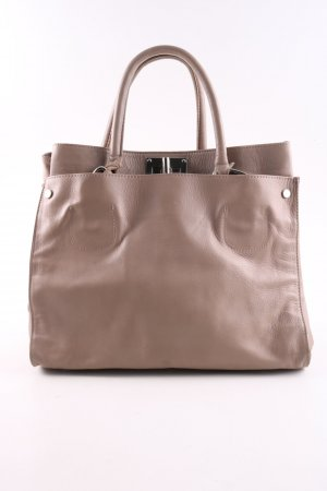 Genuine Leather Handtasche braun Business-Look
