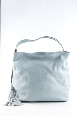 Genuine Leather Henkeltasche blau Casual-Look