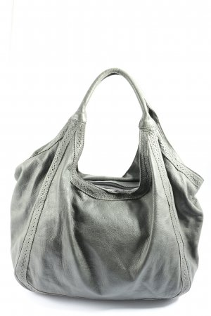 Genuine Leather Henkeltasche grün Casual-Look