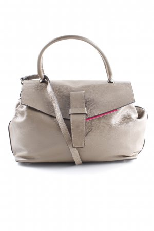 Genuine Leather Henkeltasche graubraun Casual-Look