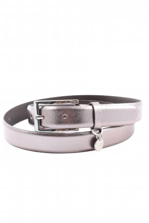 Genuine Leather Faux Leather Belt silver-colored casual look