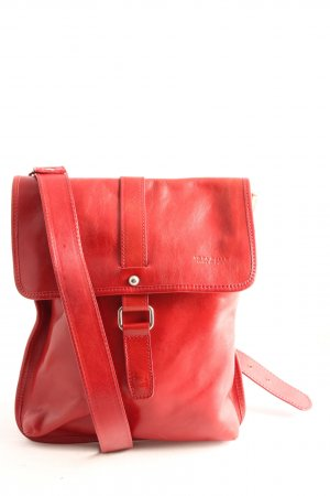 Genuine Leather Schultertasche rot Casual-Look