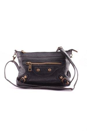 Genuine Leather Torba na ramię czarny W stylu casual
