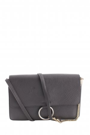 Genuine Leather Schultertasche grau Casual-Look